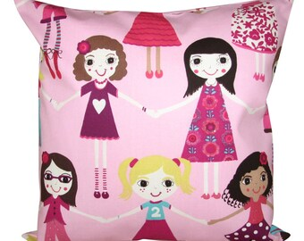 Harlequin Best of Friends Pink Cushion Cover