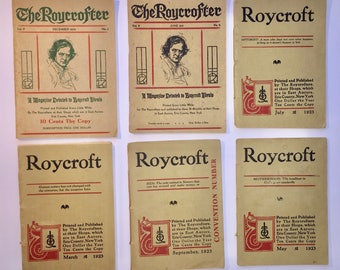 Six Issues Of The Roycroft Magazine 1920's - 30's
