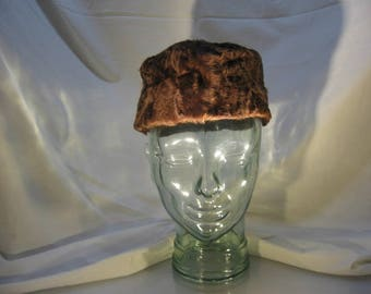 Vintage Fur Pill Box Hat - 1930's