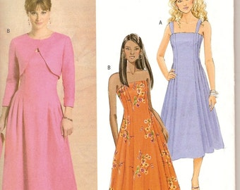 Sewing Pattern Butterick 4725 Misses' Shrug and Dress Bust 36 to 42 inches Uncut Complete