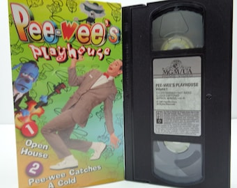 Pee-wee's playhouse open house and pee-wee catches a cold VHS Tape