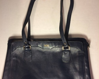 Phillippe Vintage Leather Navy Blue shoulder bag cross body purse