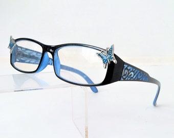 Butterfly reading glasses, +2.25 eyeglasses