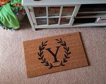 Personalized Doormat | Initial | Initial Doormat | Cute Decor | Welcome Mat  | Fun Welcome Mat | Last Name Decor | Personalized Door Mat