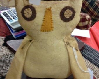 Primitive owl doll