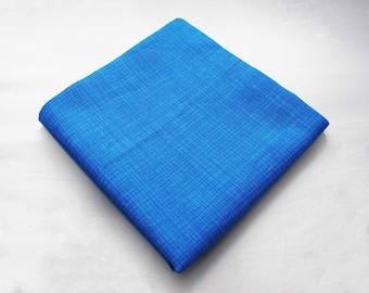 Men's Pocket Square - Turquoise Crosshatch