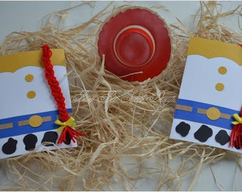 Toy Story Jessie Invitations / Jessie Party Theme Invitations / Cowgirl Party Theme
