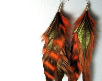 Fire Feather Earrings