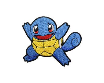 Squirtle Patch Pokemon Patch Cartoon Game Patch Iron on Patch Sew On Patches