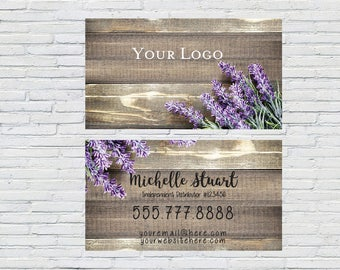 Rustic Business Card, Personalized, Custom, Printable, Essential Oil, Business Cards, Digital File, Small Business, Essential Oils, Lavender