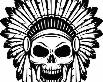 indian skull etsy
