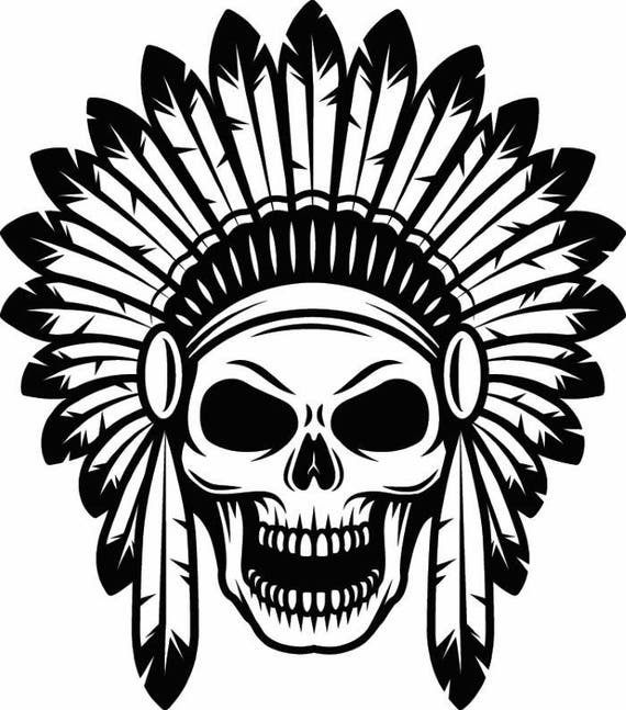 indian hat template - indian skull 1 native american warrior headdress feather