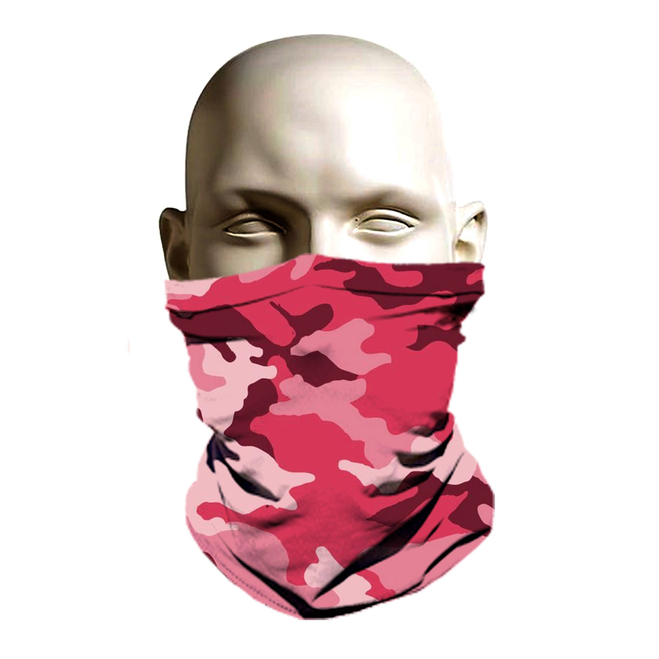 Rosa diseño de máscara de esquí Camo esquí cara cubierta
