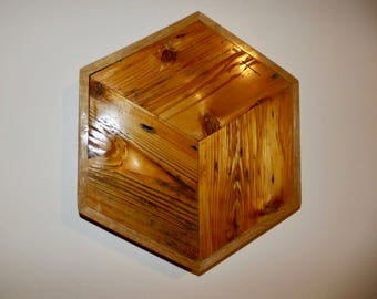 rustic optical illusion reclaimed wood art