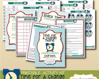 Printable Charades - Time For A Change Theme