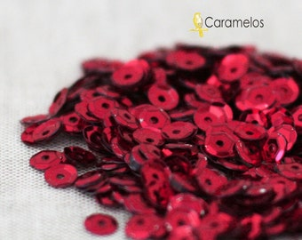 5mm Red Sequins