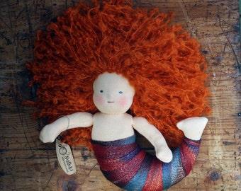 Waldorf inspired mermaid doll, Waldorf doll, ragdoll
