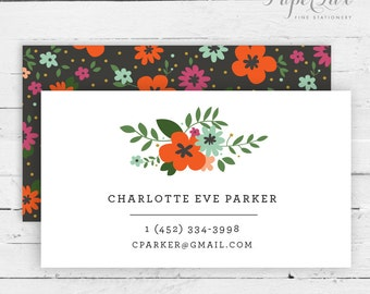 Calling Card #7 - Floral Business Card | Social Correspondence | Mommy Card
