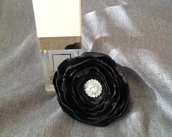 Black Rose Hair Clip Ornament