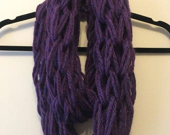 Super Chunky Arm Knitted Infinity Scarf
