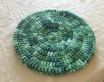 Green Camo Children's Crocheted Beret/Slouchy Hat