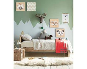 Woodland animals, Baby animal prints, The Crown Prints, PRINTABLE art, Baby panda print, Nursery wall decor