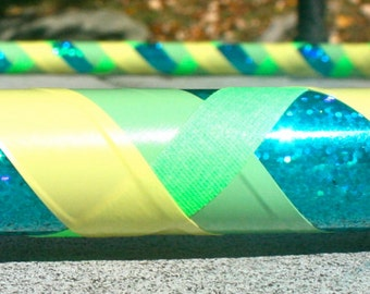 Collapsible Hula Hoop- Lime Rickey- Green, yellow, teal