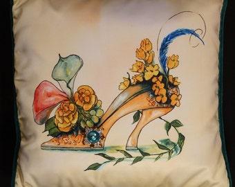 Orange Shoe Pillow