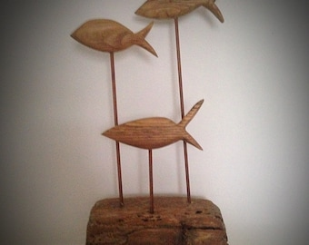 Wooden Fish on Driftwood