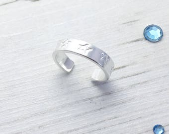 Star Toe Ring, Sterling Silver Toe Ring, Silver Toe Ring, Star Toe Ring, Adjustable Ring, Body Jewellery, Beach Jewellery, Summer Fashion,