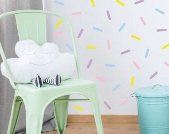 Sprinkles Wall decals - Nursery Decals - Cupcake Sprinkle - Wall Decals - Sprinkle Stickers - Ice Cream Sprinkle Stickers - Sprinkle Decals