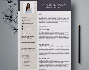 Creative Resume Template | CV Template for MS Word and Pages | Professional Resume | Modern Resume Design | Resume Instant Download