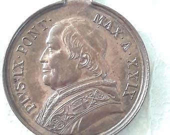 1875 - Antique Medal Pius IX - Jubilee 1875