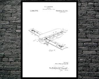 Airplane Print, Airplane Poster, Airplane Patent, Airplane Wall Decor, Aviation Poster, Aviation Print, Aviation Wall Art, Aviation Art
