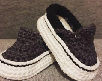Crochet Vans Stlye Baby Shoes - Crochet Vans - Baby Vans - Crochet Sneakers - Baby Shower Gift