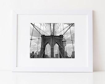 New York City Photography: Brooklyn Bridge Print, New York City Print, Brooklyn Bridge Photography, Bridge Print, New York City Art