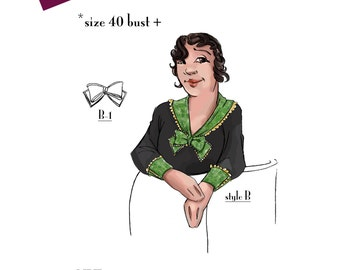 NVL 1930s jabots, collars, cuffs and gilet 40 bust and over in PDF 5072