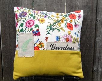 Vintage Flower Garden Pillow