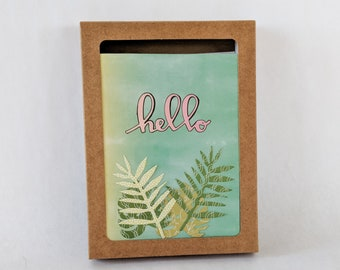 Boxed Greeting Card Set of 5 Handmade Hello Cards