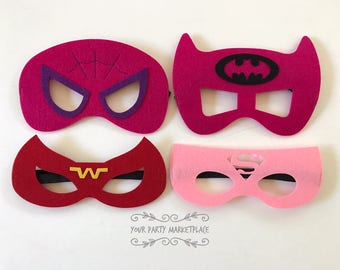Girls Superhero Party Masks, Batgirl Party Favors, Batgirl Party, Supergirl Party Favors, Superhero Party, Superhero Birthday, Supergirls