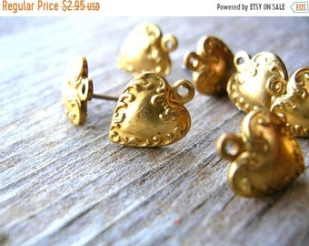 Clearance Sale Post Earring Findings - Jewelry Making - Brass Earring Posts - Earring Findings - Spades