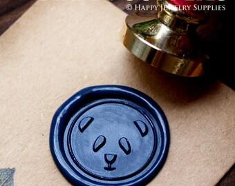Buy 1 Get 1 Free - 1pcs Panda Gold Plated Wax Seal Stamp (WS128)