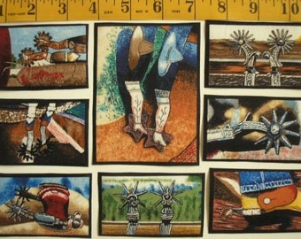 Spurs Cowboy Southwestern FABRIC 18 Ready To Iron Appliques Vanderpool Northcott