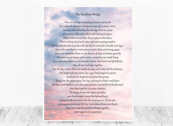 Pet Loss Poem - The Rainbow Bridge