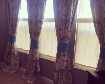 Custom John Robshaw Mahout Drapes You pick the fabric and style - Lined