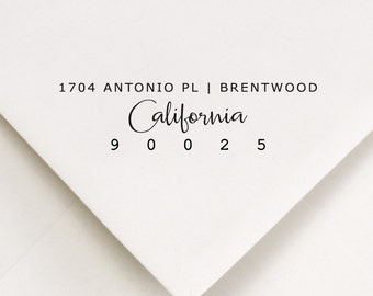Return Address Stamp, Address Stamp, Custom Address Stamp, Self Inking Stamp, Housewarming Gift, Wedding Stamp, All States Available (901)