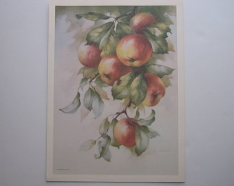 Print of an original Kay Godshalk painting of Apples
