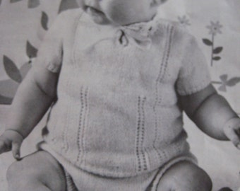 Baby Knitting Patterns PDF - Vintage Patterns - Short-Sleeved Sweater, Diaper Cover P176j