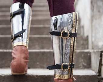 """SCA Armor Greaves """"The King's Guard"""""""