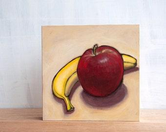 Sale - 'Banana Apple' Original Painting by Mara Minuzzo